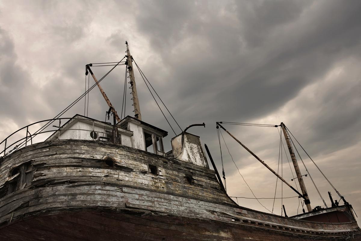 wreck boat épave bateau Baie-Saint-Paul Québec Canada